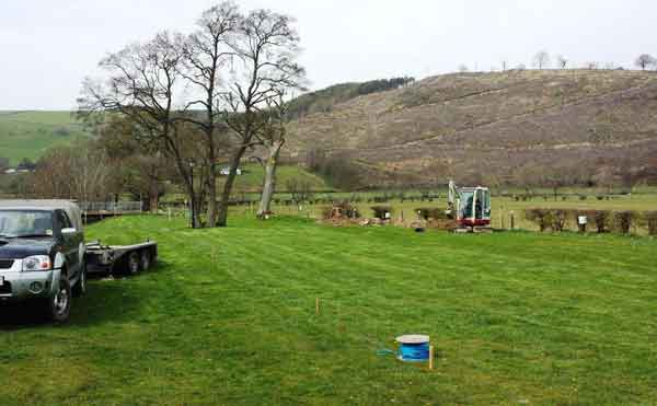 new streamside pitches for static caravans for sale at hendwr caravan park, North Wales